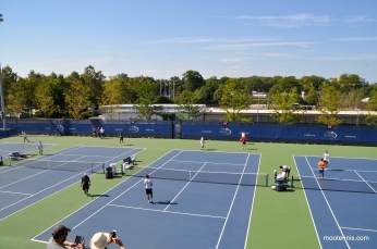 US Open Practice courts